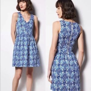 Milly for Design Nation Blue Combo Dress Blue Wht